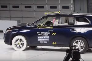 краш-тест Mitsubishi Outlander, краш-тест Мицубиси Аутлендер