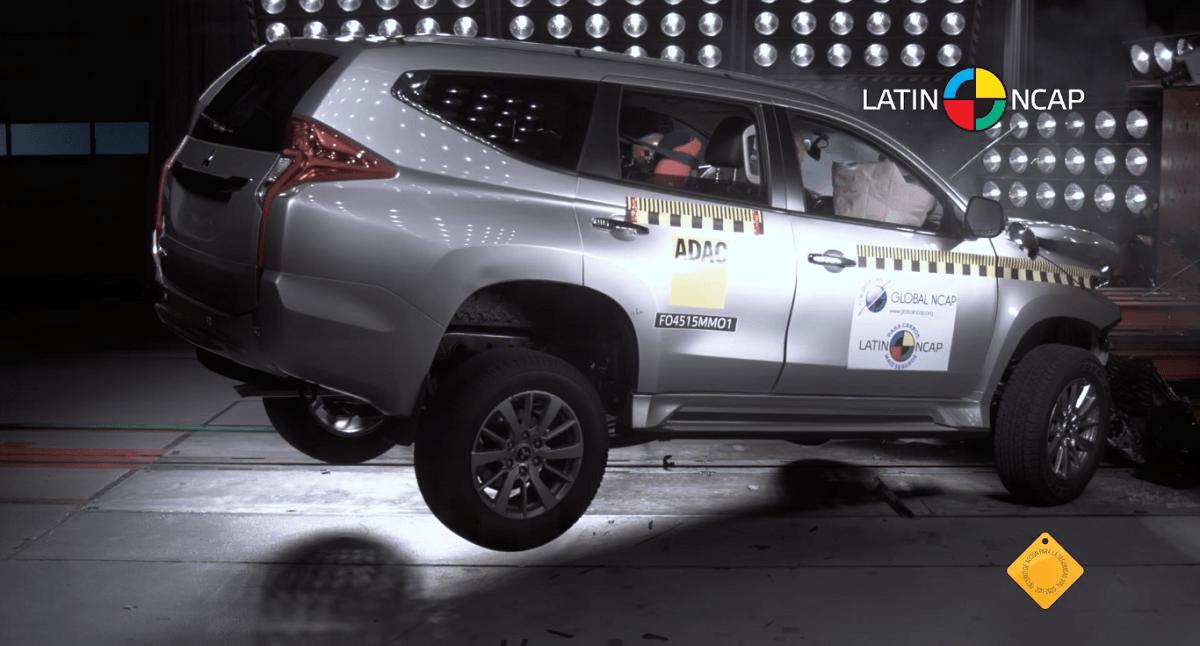 Latin NCAP опубликовала результаты краш-теста нового Mitsubishi Pajero Sport