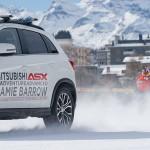 Mitsubishi ASX и самый быстрый сноубордист Великобритании побили рекорд Гинеса